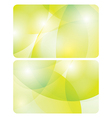 abstract yellow and green backgrounds - cards vector image vector image