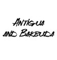 antigua and barbuda stamp on white vector image vector image