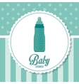 Baby Shower design baby bottle icon Blue vector image vector image