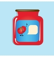 Bank with home canned tomatoes design vector image