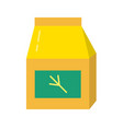 bird accessory package icon in flat style vector image