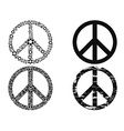 black peace symbol vector image vector image