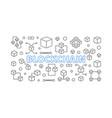 blockchain outline block vector image vector image