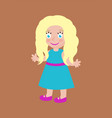 blonde doll with long hair and big blue eye vector image