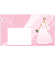 Bride and wedding background vector image vector image