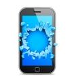 Broken Mobile Phone vector image