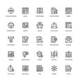 business and finance line icons 9 vector image vector image