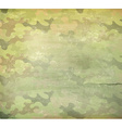 Camouflage old style background vector image vector image
