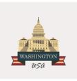 Capitol Building in Washington vector image vector image