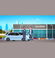 car showroom background purchase sale or rental vector image vector image