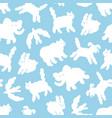 cloud animals in sky cartoon pattern vector image vector image