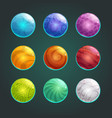 colorful glossy shiny bubbles set vector image vector image