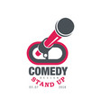comedy stand up show emblem with date vector image vector image