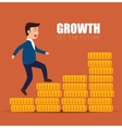 concept growth success businessman walk stairs vector image