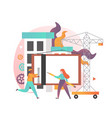 construction engineer services concept vector image