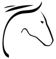 Contour of horse vector image vector image