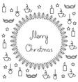contour Plot of Merry Christmas postcard vector image vector image