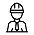 contractor icon outline style vector image vector image