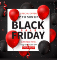 dark square banner for black friday sale vector image vector image