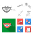 dental care wound treatment and other web icon in vector image vector image