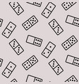 dominoes seamless pattern line icons on grey vector image