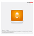 dressing table icon orange abstract web button vector image