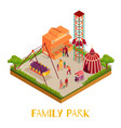 family park isometric vector image vector image