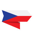 flag of czech republic on a label vector image vector image