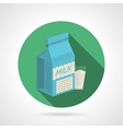 Flat color icon for milk pack vector image