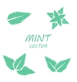 flat mint icons set vector image vector image