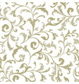 Floral seamless pattern branch with leaves