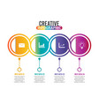 four steps infographics - can a strategy vector image vector image