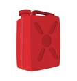 Fuel container jerrycan cartoon icon vector image