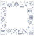 games linear concept frame game vector image
