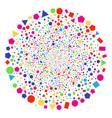 geometric figures salute globula vector image vector image