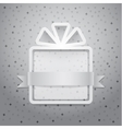 Gift box and confetti Flat vector image vector image