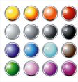 glass and chrome buttons vector image