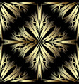 gold abstract 3d vetor seamless pattern modern vector image