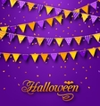 Halloween Party Background with Hanging Triangular vector image