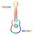 hand draw colorful guitar on white background for vector image