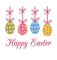 happy easter greeting card with colorful vector image