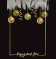 happy new year luxury winter holiday card vector image vector image