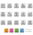 Healthcare and Medical Buttons vector image vector image