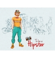 Hipster boy crowd vector image vector image