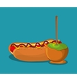 Hot dog fast and carnival food design vector image vector image