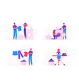 household activity concept with male and female vector image vector image