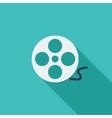 icon reel film vector image