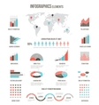 Infographics elements for websites brochures and vector image vector image