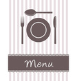 kitchen menu vector image