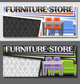 layouts for furniture store vector image